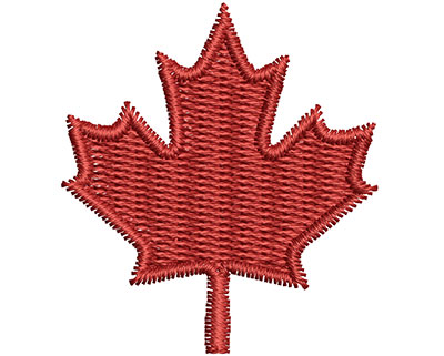 Embroidery Design: Maple Leaf 5.79w X 1.31h