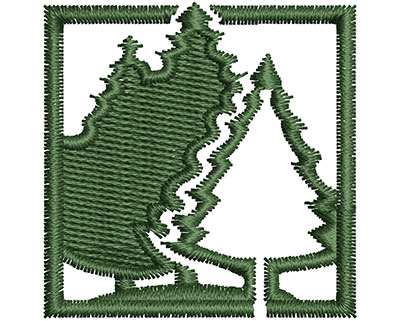 Embroidery Design: Trees in Forest 1.31w X 1.39h