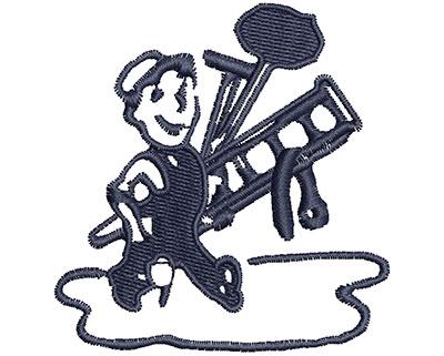 Embroidery Design: Cartoon Worker 2.33w X 2.43h