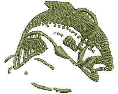 Embroidery Design: Jumping Fish 2.30w X 1.95h