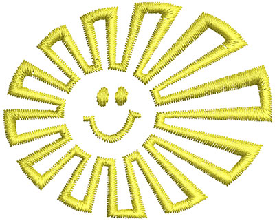 Embroidery Design: Sunshine Cartoon 2.38w X 1.92h