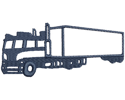 Embroidery Design: Transport Truck 3.99w X 1.76h