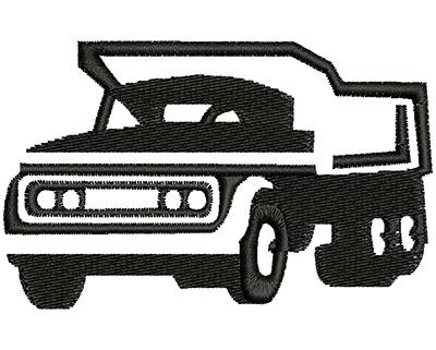 Embroidery Design: Truck  3.35w X 2.09h