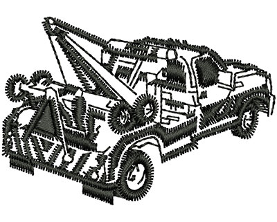 Embroidery Design: Tow Truck 1.95w X 1.34h