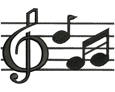 Embroidery Design: Music Notes 3.92w X 2.63h