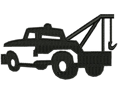 Embroidery Design: Tow Truck  3.98w X 2.26h