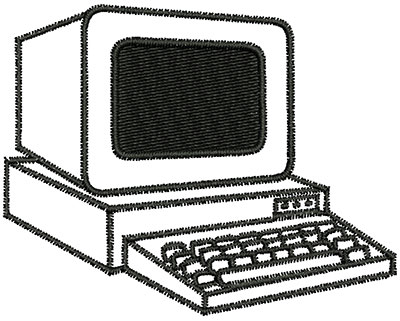 Embroidery Design: Vintage Computer 2.94w X 2.33h