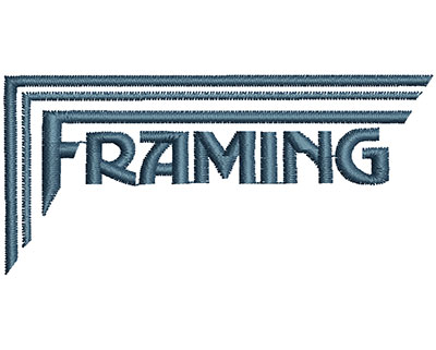 Embroidery Design: Framing  3.25w X 1.51h