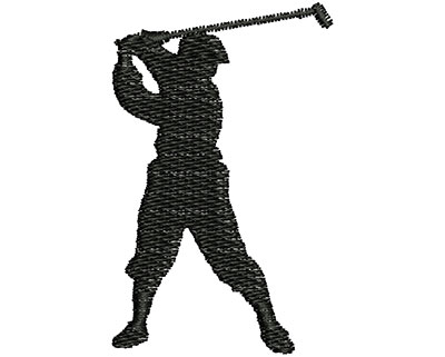 Embroidery Design: Golfer 1.36w X 2.16h