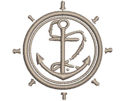 Embroidery Design: Nautical Wheel 2.46w X 2.43h