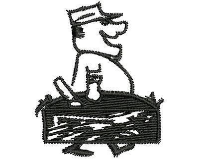 Embroidery Design: Cartoon Work Man 1.46w X 1.77h