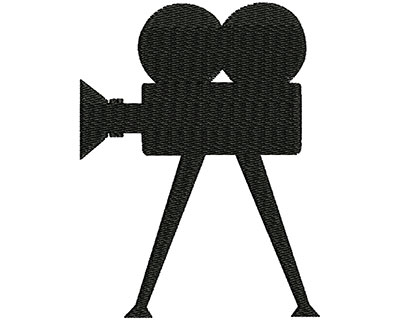 Embroidery Design: Vintage Video Camera 2.43w X 3.19h