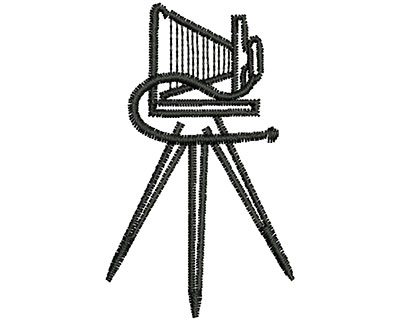 Embroidery Design: Vintage Stand Up Camera 1.12w x 1.87h