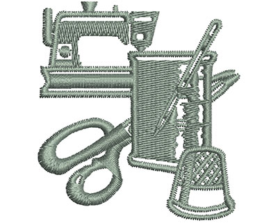 Embroidery Design: Sewing Equipment 2.10w X 2.27h