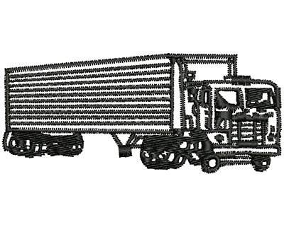 Embroidery Design: Transport Truck 3.06w X 1.32h