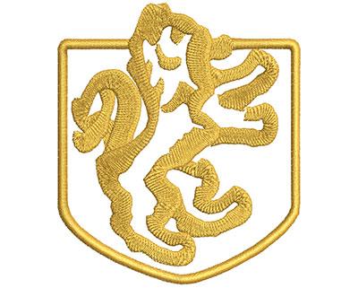 Embroidery Design: Lion Symbol  3.21w X 3.73h