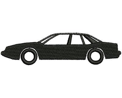 Embroidery Design: Car 4.07w X 1.10h