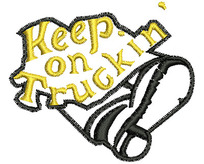 Embroidery Design: Keep On Truckin 2.53w X 2.18h