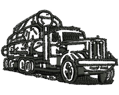 Embroidery Design: Log Truck 2.48w X 1.60h
