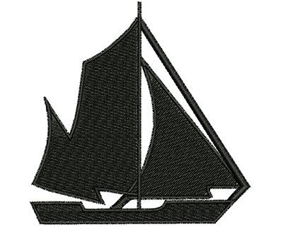 Embroidery Design: Sail Boat 3.18w X 3.21h