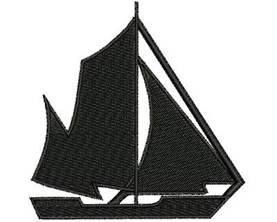 Embroidery Design: Sail Boat 3.18w X 3.21h