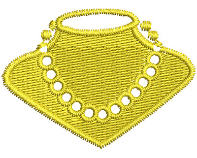 Embroidery Design: Pearl Necklace 1.80w X 1.30h