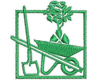 Embroidery Design: Green  1.76w X 1.80h