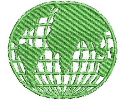 Embroidery Design: Globe 2.08w X 1.86h
