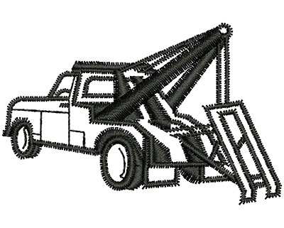 Embroidery Design: Tow Truck Outline 2.20w X 1.43h