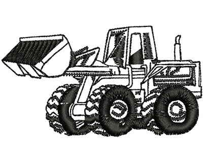 Embroidery Design: Bulldozer Machine 2.44w X 1.35h