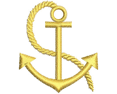 Embroidery Design: Anchor 1.32w X 1.54h