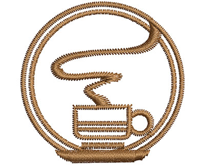 Embroidery Design: Coffee Embellishment 1.54w X 1.52h