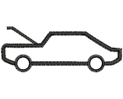 Embroidery Design: Car Outline  2.23w X 0.84h