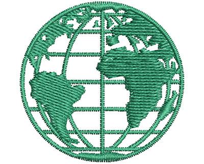 Embroidery Design: Globe  1.54w X 1.51h
