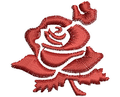 Embroidery Design: Rose  1.51w X 1.45h