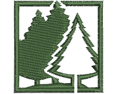 Embroidery Design: Forest  1.47w X 1.52h