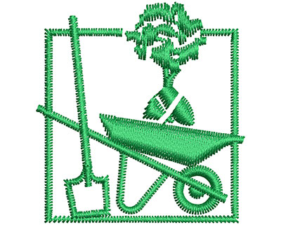 Embroidery Design: Gardening Tools 1.43w X 1.52h