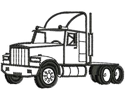 Embroidery Design: Truck Cabin 2.33w X 1.46h