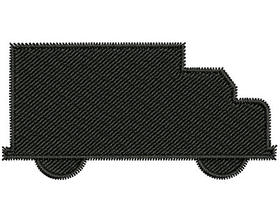 Embroidery Design: Truck Outline 2.28w X 1.14h