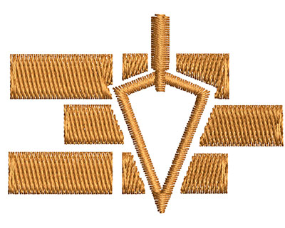 Embroidery Design: Brick Laying 2.02w X 1.46h