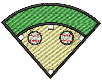 Embroidery Design: Baseball Field 3.52w X 2.67h