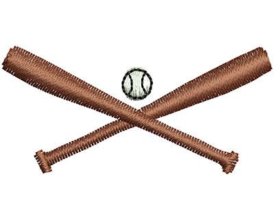 Embroidery Design: Baseball bats 1.54w X 0.73h