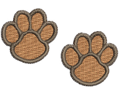 Embroidery Design: Paw Prints 2.13w X 1.43h