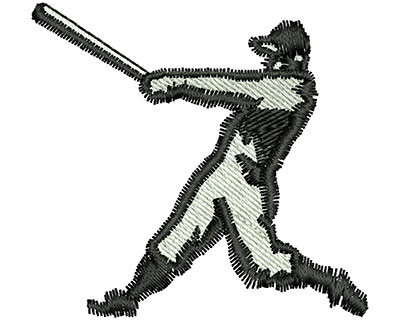 Embroidery Design: Baseball Player 1.87w X 1.76h