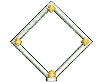 Embroidery Design: Baseball Diamond 1.84w X 1.80h