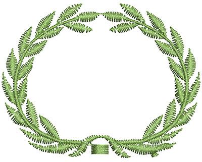 Embroidery Design: Circular Vine 2.31w X 1.80h