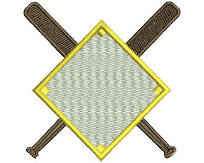 Embroidery Design: Bats in Diamond Field 3.02w X 3.09h