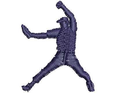 Embroidery Design: Baseball Catcher 1.29w X 1.61h