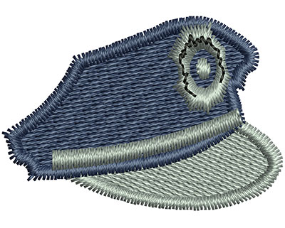 Embroidery Design: Police Hat 1.43w X 0.99h