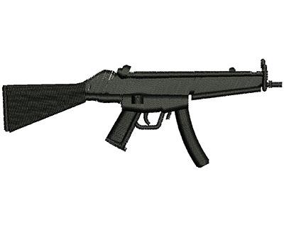 Embroidery Design: Machine Gun 4.02w X 1.56h